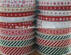 Christmas Snowflake , Stars & Candy Stripe Grosgrain Ribbons ♥ Assorted Designs