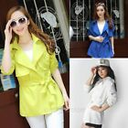 Fashion Women's Slim Fit Trench Lapel Loose Windbreaker Coat Jacket Outwear Tops