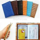 Emboss Passport Holder Ticket Cover Protector Travel Wallet Leather Document Bag