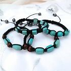 HEALING GEM STONE TURQUOISE BEAD BRACELET - 4 DESIGNS TO CHOOSE FROM, ADJUSTABLE