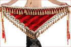 New Belly Dance Costume Tribal Tassels Triangle Hip Scarf wrap Belt 2 colors