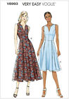 Very Easy Vogue 8993 Fitted Bodice Long Summer Sun Dress Sewing Pattern V8993