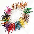 Assorted Coconut Shell Stick Pepper Dangle Hoop Earrings 11 Colors 12 Options