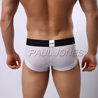 SEXY Mens Big Breathable Hole Underwear LOW RISE Boxer Briefs Trunks Home Pants