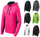 LADIES, WICKING, PULLOVER HOODIE, ATHLETIC, NEON, TWO TONE,  XS-M L XL 2X 3X 4X