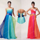 Big Sale! Formal Evening Bridesmaid Wedding Gown Strapless Long Party Prom Dress