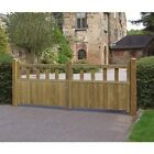 GARDEN TIMBER WOODEN DOUBLE GATES - Wooden Driveway Double Gates