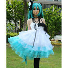 New Adult VocaloId Miku Women Camellia Evening Dress Cosplay Costume Dress