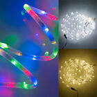 Connectable 100 LED Indoor/Outdoor Christmas Rope Fairy Lights, Plug Included