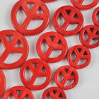"""15/20/25MM Red Turquoise Howlite Loose Beads Peace Strand 16"""" Jewelry Making"""