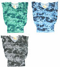 Energie NEW Blue Green or Gray Tie Dye Ruffled Tunic Top Junior Size S M $24