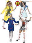Size 8-18 Ladies Zombie Halloween Fancy Dress Costume Uniform Womens Outfit