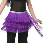Belly Dance 3 Layers Fringe Hip Scarf / Belt 12 Colors