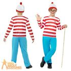 Child Where's Wally Costume Boys Book Day Week Fancy Dress Outfit New Age 4-12