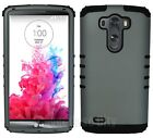 KoolKase Impact Case for LG G3 Dual Layer Protective Cover Rubberized Gray Black