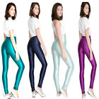 Womens Skinny multicoloured Jeggings Stretchy Sexy Leggings Pencil Shiny Pants