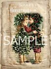 Fabric Block  *Christmas Kiss*  Collage  14-0375