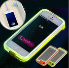NEW USB Charge Cable LED Flash Light Up Transparent PC Cover Case F Iphone 5 5S