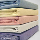 Brushed Cotton thermal Flannelette Fitted Flat Sheet Set & Pillow Cases