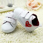 Baby boy gril white Crib Shoes soft soled Shoes Size 0-6 6-12 12-18 months