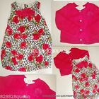 NWT TCP LOT GIRLS 3 3T or 4 4T Pink BUBBLE FLORAL DRESS Sweater SET OUTFIT NEW