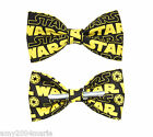 Star Wars Yellow / Black Clip On Bow Tie