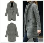 Girl's Fashion Lapel Wool Cashmere Parka Coat Trench Outwear Jacket S M L XL -LA