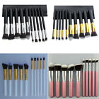 Pro 10pcs Cosmetic Make Up Brushes Mineral Makeup Blending Stippling Techniques