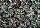 BN Set Of 6 Jasmine Noir Scented Black Tea Light Candles With Glitter Web Theme