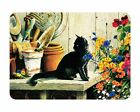 Tuftop Glass Chopping Board Gardeners Helper Black Cat Worktop Saver in 3 Sizes