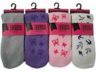1 Ladies Thermal Non-Slip Rubber Grip Sole Slipper Socks / UK 4-7