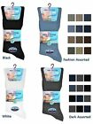 12 Mens No Non Elastic 100% Cotton Loose Wider Top Socks / UK 6-11