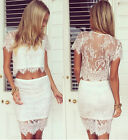 New Fashion Summer Gorgeous Lace Hollow Out 2 Piece SummerDress