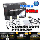 72w 6400lm H1 H3 H7 9005 9006 H4 H13 Cree LED Headlight Conversion Kit Lamp Bulb
