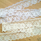 per 3 metres  Beautiful  27mm 1 inch  wide  lace white or ivory