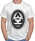 ILLUMINATI SWAG DOPE CULT TRIANGLE PYRAMIDS EYE HIPSTER SKATE DTG T-SHIRT S-2XL