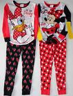 MINNIE MOUSE or DAISY DUCK Girls 4 6 8 10 Pjs Set PAJAMAS Shirt Pants DISNEY