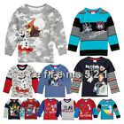 Cute Baby Boys Kids Frozen Olaf Print Long Sleeve T-Shirts Tops Clothes 1-6Y