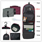 Foldable Travel Makeup Cosmetic Toiletry Organizer Bag With Hanger and Mirror