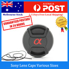Sony Lens Caps Camera Snap-on Cover with Cord 52mm/62mm/67mm/77mm