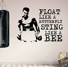 Pro Design Muhammad Ali Motivational Wall Decals Gym Home Boxing Fitness HIIT