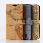 New Map Style leather Flip Wallet Stand case for Samsung Galaxy Note 4 N9100
