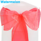 1 10 50 100 Organza Sashes Chair Cover Bow Sash WIDER FULLER BOWS Wedding Party