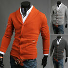 Mens Casual Slim Fit V-neck Knitwear Cardigan Pullover Jumper Sweater Coat Tops
