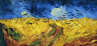 Wheatfield with Crows - Vincent van Gogh full size Art Print Poster 27.2x13''