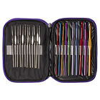 22pcs Set Multi-colour Aluminum Crochet Hooks Needles Knit Weave Craft Yarn