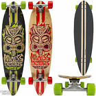 "MINDLESS Rogue ""Tribal"" Longboard Skateboard Pintail Red/Green Complete Freeride"