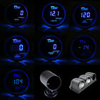"2"" 52mm Black Car Digital Blue LED Boost Water Oil Temp Press Volt Tacho Gauge"