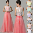 2015 HOT Long Lace Bridesmaid Formal Gown Ball Cocktail Evening Prom Party Dress