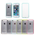 Clear/Crystal Hard Back Case Cover with Soft TPU Bumper Frame for iPhone 5s 5